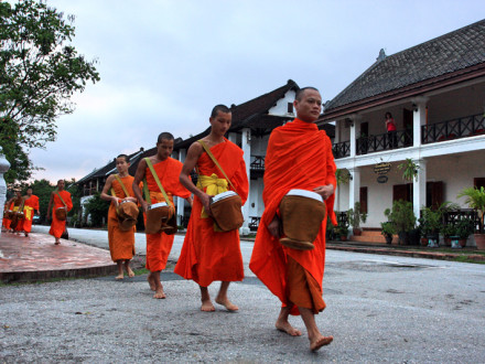 Monks in the morning, Luang Prabang