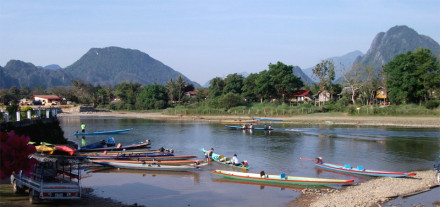 River Transport in Laos