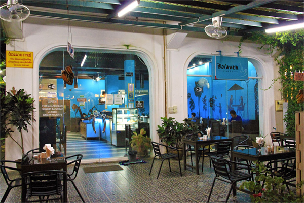Bolovens Cafe in Pakse, Laos