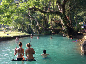 Blue Lagoon & Cave in Vang Vieng