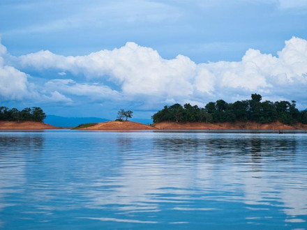 Nam Ngum Lake in Laos