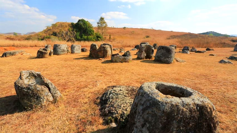 Plain of Jars in Phonsavan Laos