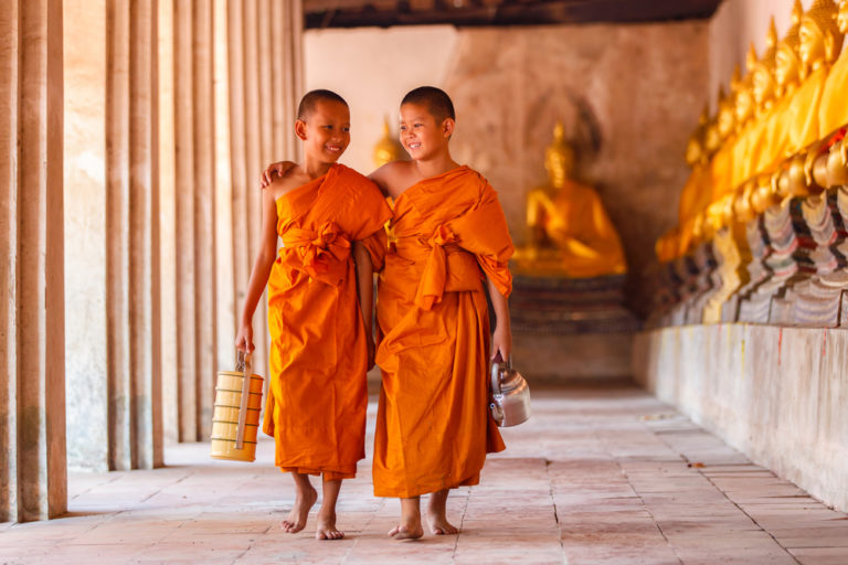 The Buddhism is the main religion in Laos