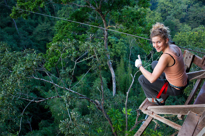 Sleeping in a Treehouse in Houayxay and Gibbon Experience in Laos