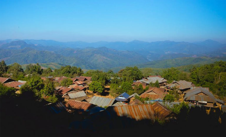 Akha Hill-Tribe Village in Muang Sing Laos