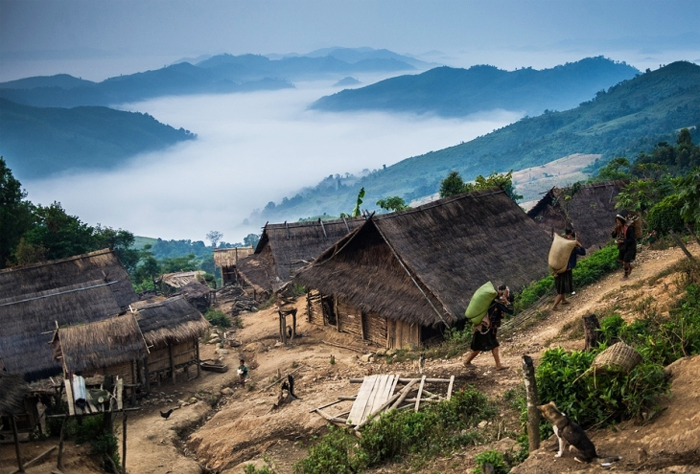Akha Village in Phongsali Laos