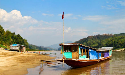 Boat trip to Bokeo Laos