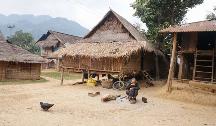 At a Hmong Village in Laos (Photo by Randy Renter)