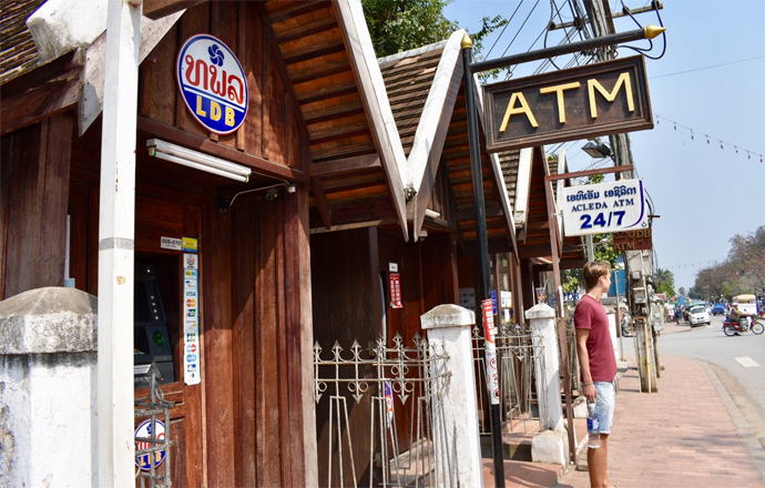 ATMs are available in Laos