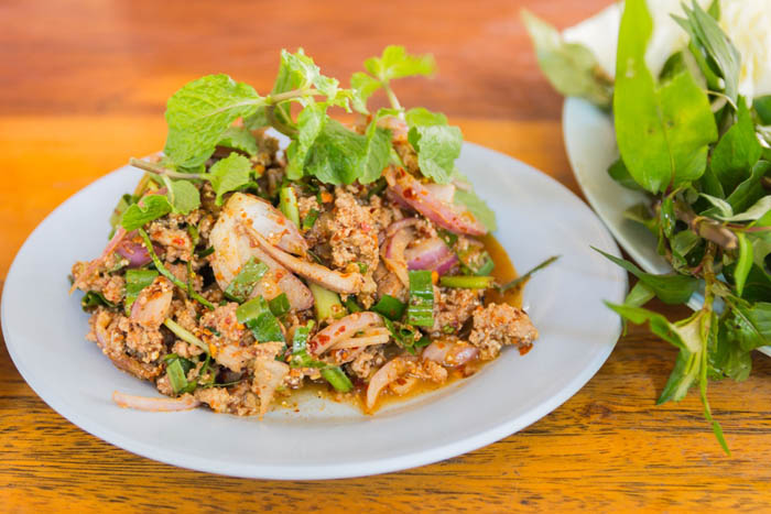 Larb is the National Salad of Laos